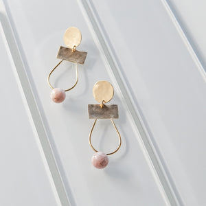 Kari Phillips: Sophie Earrings with Kunzite Drops