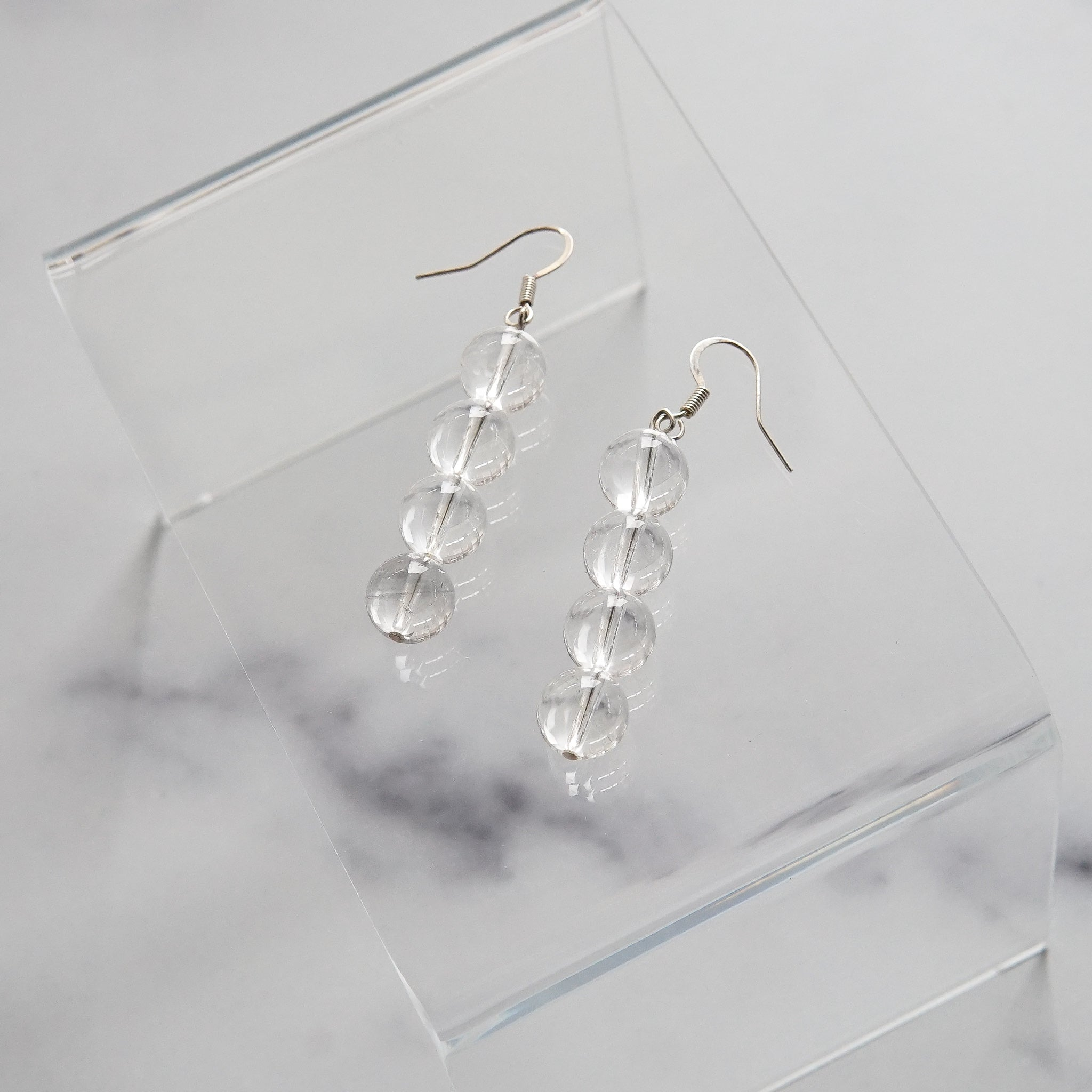 Sea & Pattern: Quartz Drop Earrings