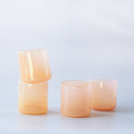 Gary Bodker: Peach Organically Shaped Glasses