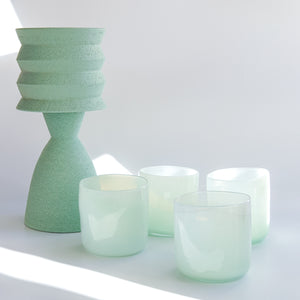 Gary Bodker: Mint Organically Shaped Glasses