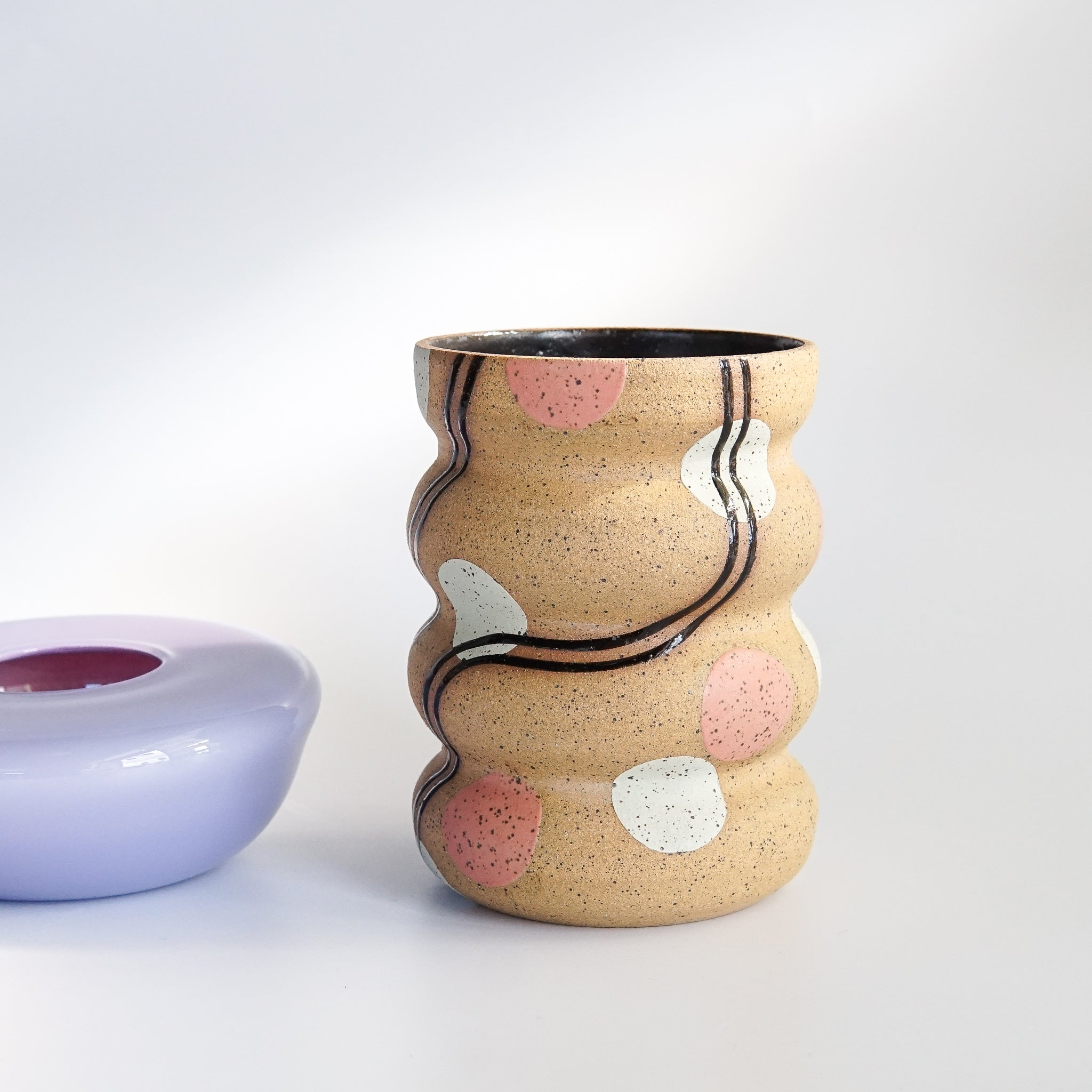 KFM Ceramics: Mint + Cherry Dots Vase