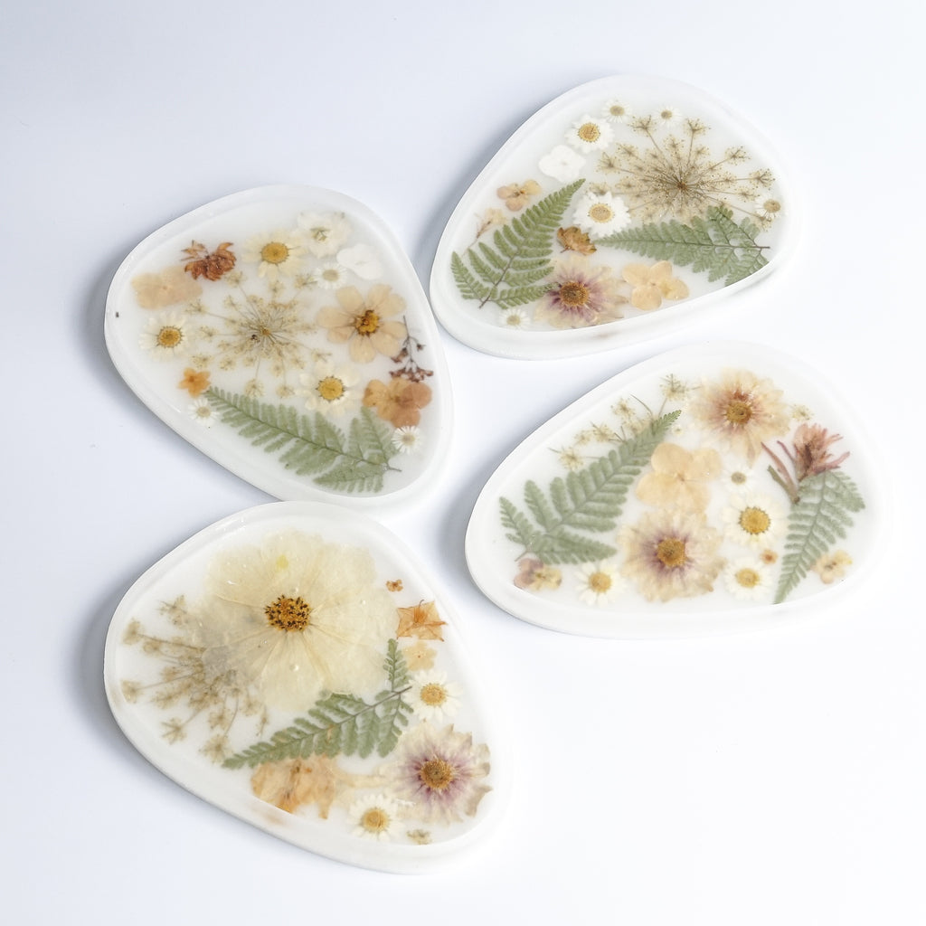 Whiskey + Wine: Large White Flora Tray
