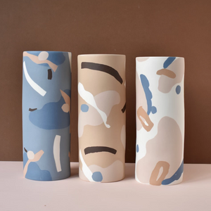 Anna Beam: Tall Collage Vases