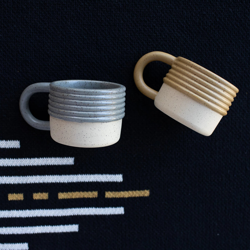Lisa Warren Ceramic Ribbed Mug