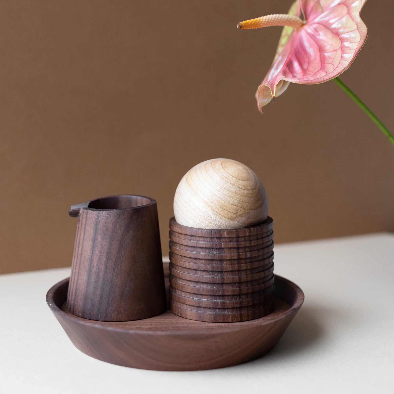 Elise McLauchlan Walnut Cream/Sugar Set
