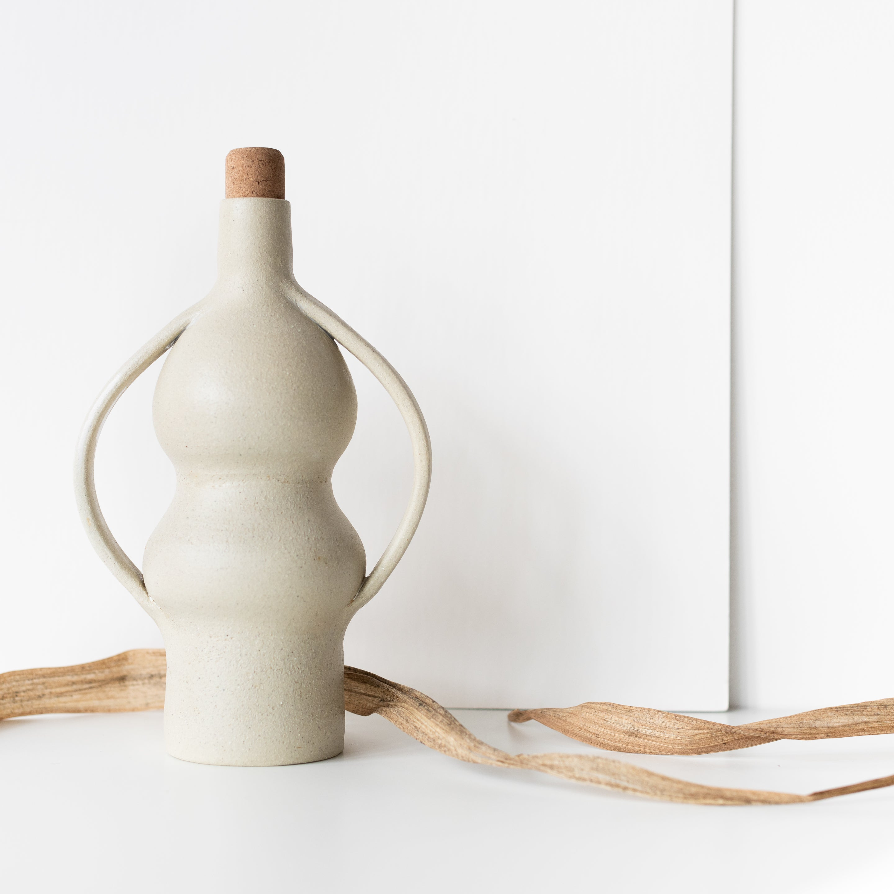 Kati Von Lehman Stoneware Ceramic Bottle