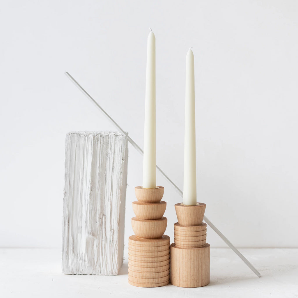 Elise McLauchlan: Turned Candle Holders