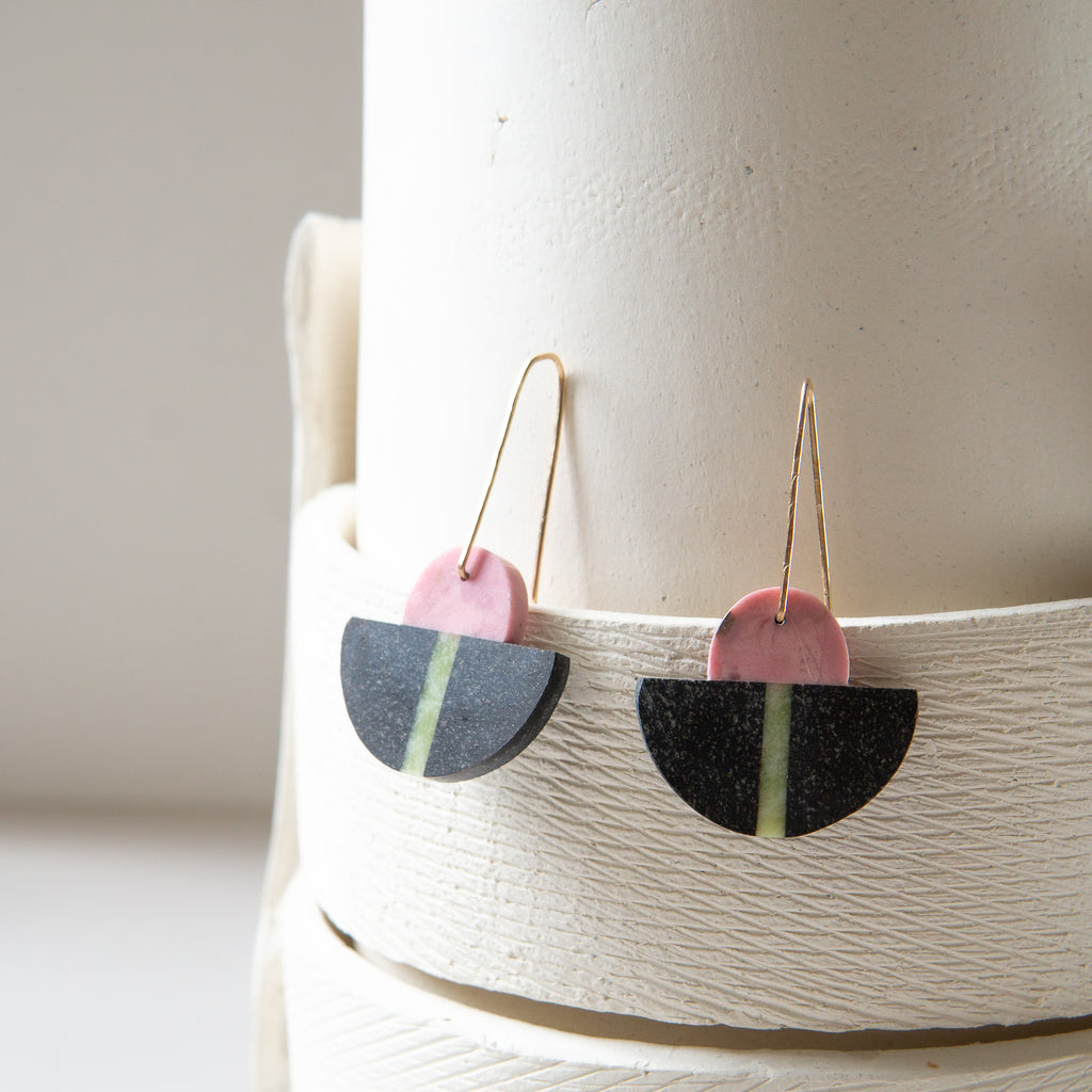 Alison Jean Cole: Triple Stone Earrings
