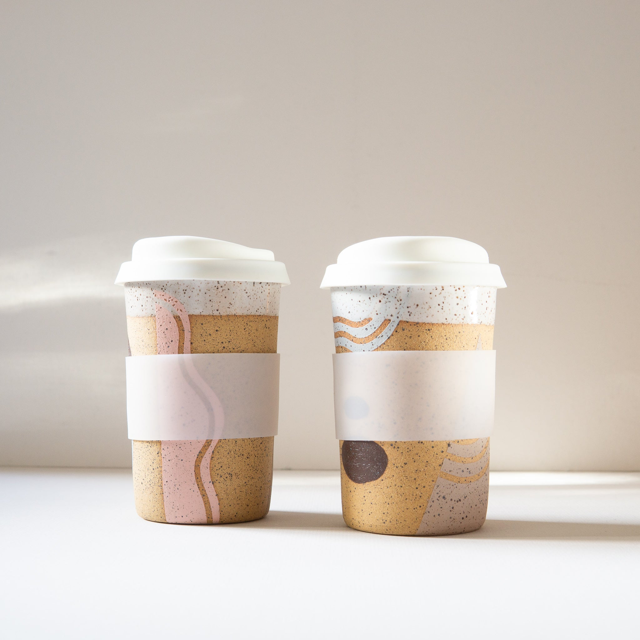 Christi Ahee: Travel Cup in Neutrals