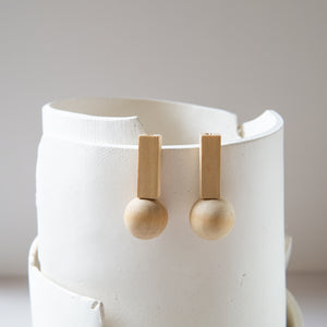 Lumafina: Square and Sphere Earrings