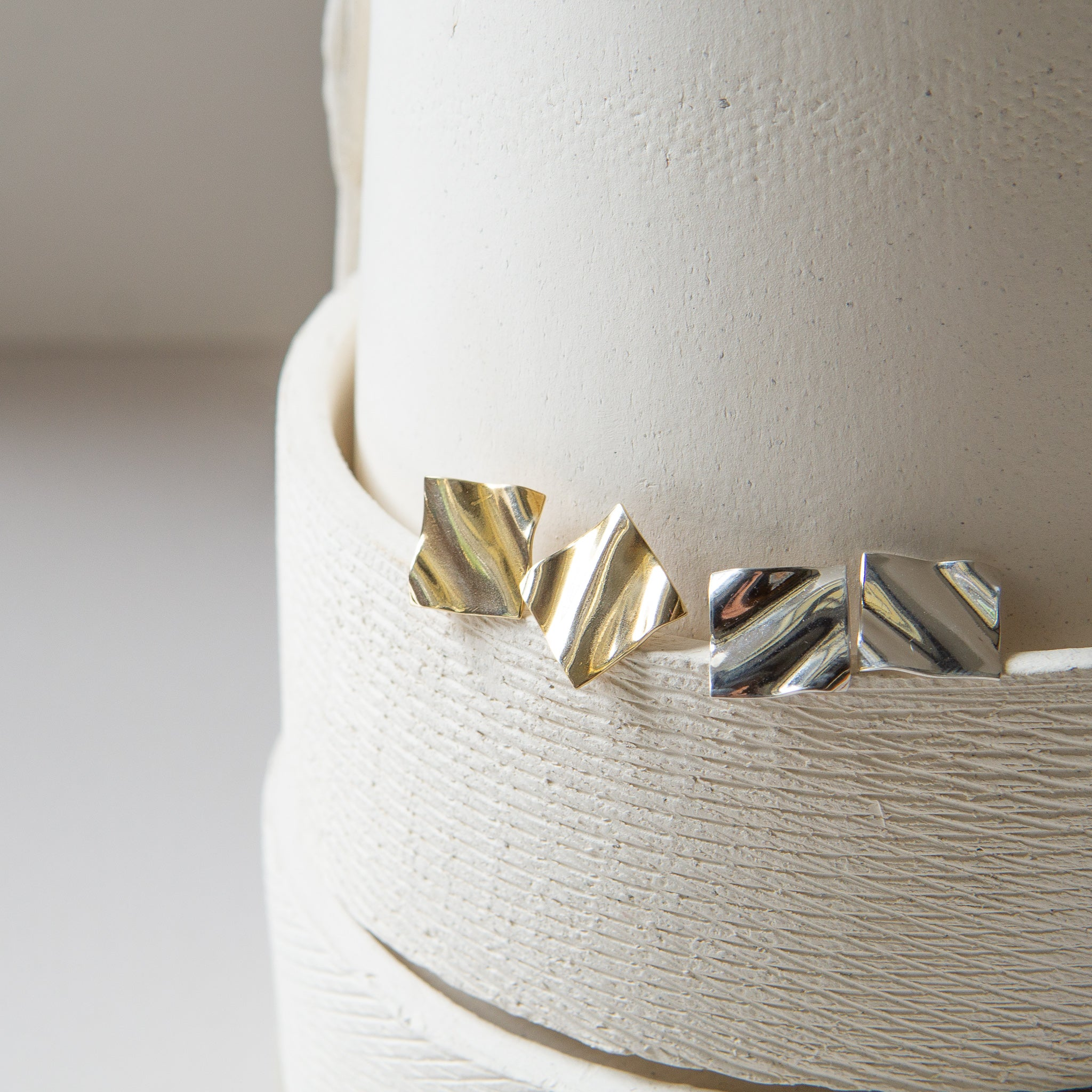 Material Wit: Furrow Stud Earrings