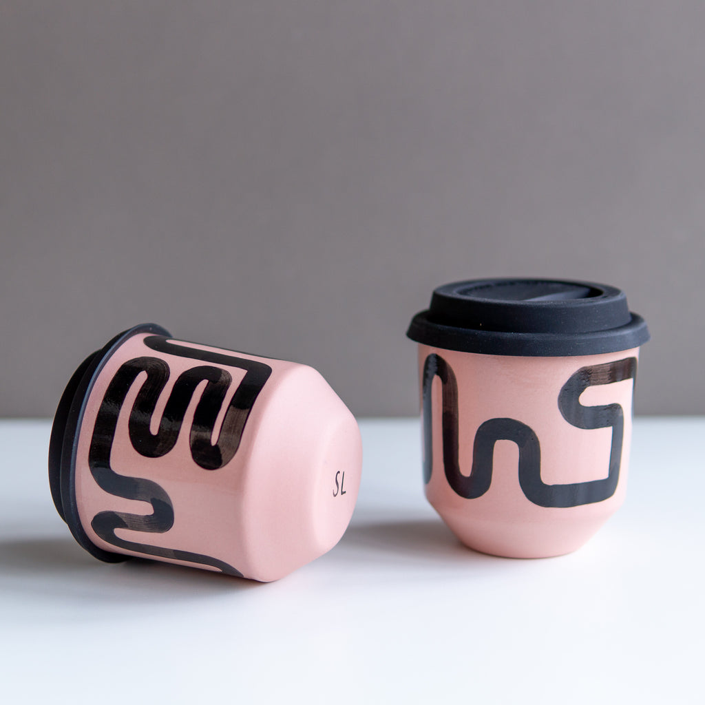 Steph Liddle: Pink Travel Cups