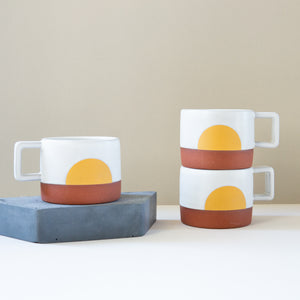 Wolf Ceramics: Little Sunrise Espresso Mug