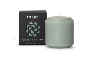 Penrose: Beeswax Pillar Candle in Sage