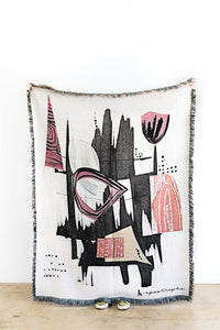 "K-Apostrophe: ""Totem"" Woven Throw"