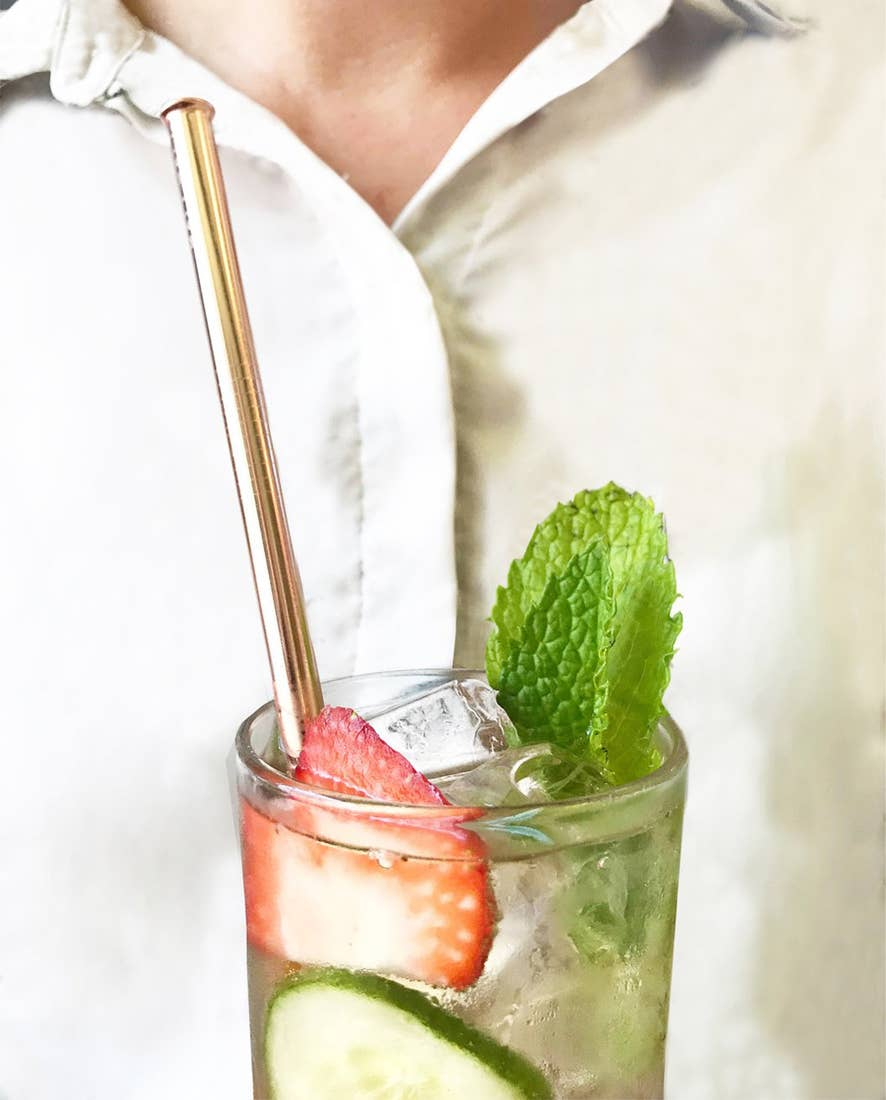 Hali Hali: 6 pc Eco Friendly Reusable Straw Set- Splatter