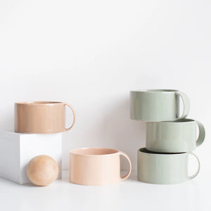 sophie Bland mugs handmade for mantel