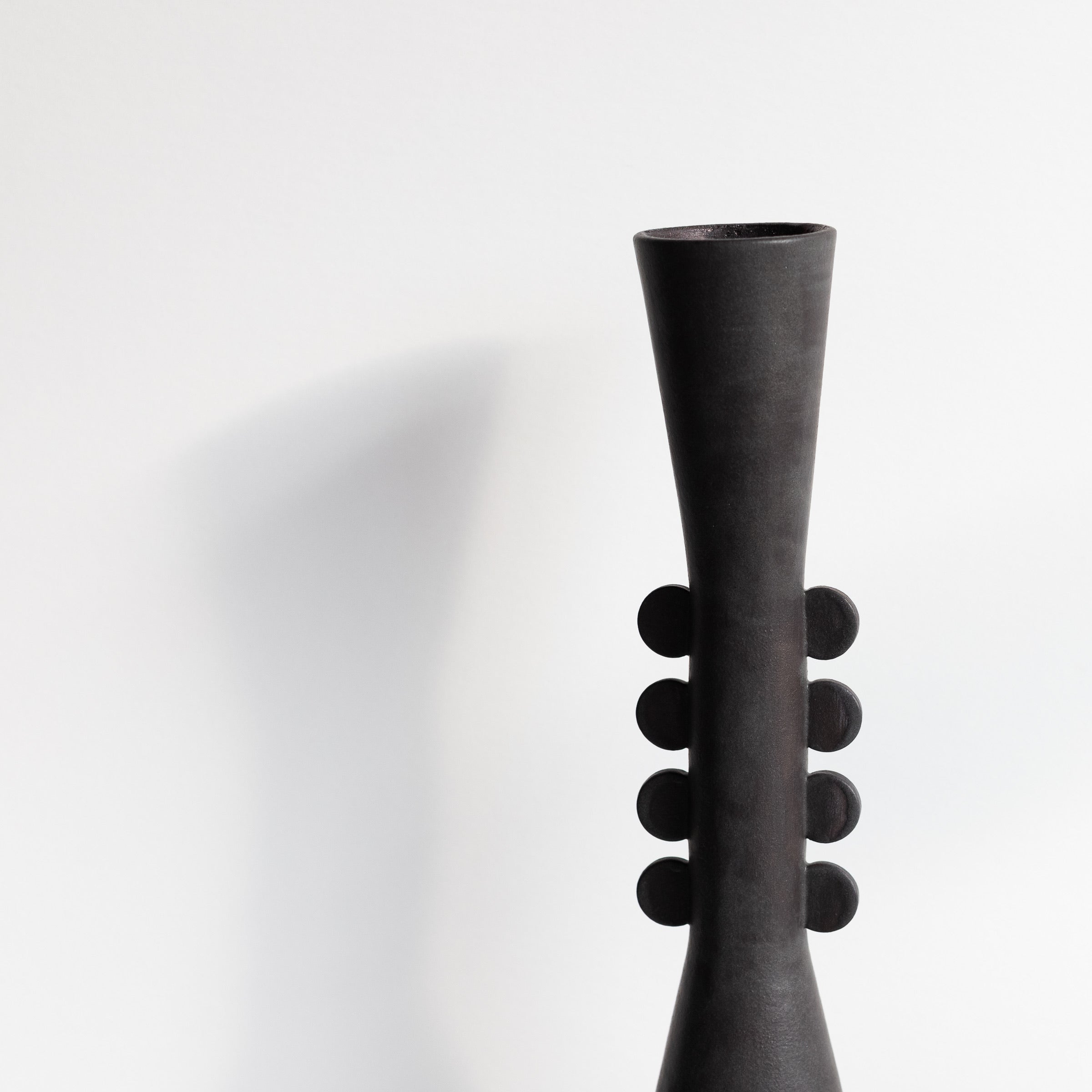 Bobbie Specker: Tall Dot Vase and Angled Vase