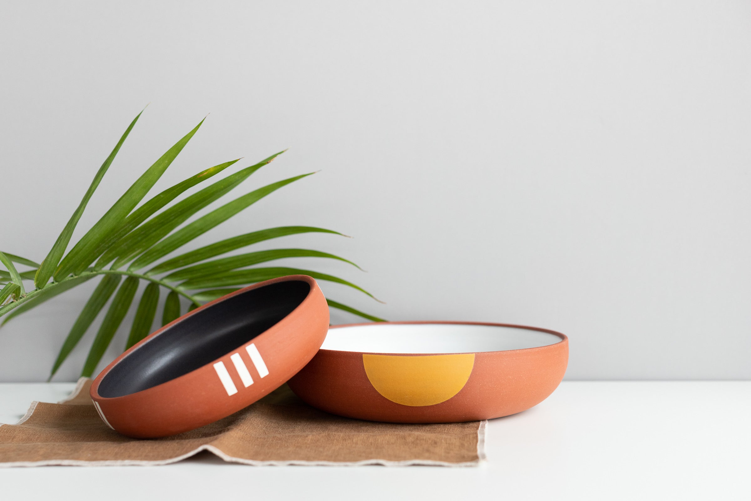 Wolf Ceramics: Low Serving Bowls