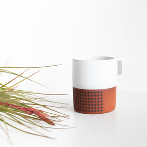 Wolf Ceramics: White Dot Mug