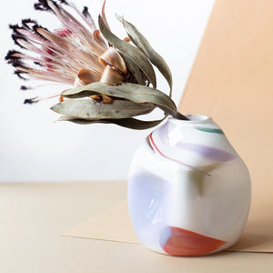 Bale Fire Handblown Glass Epiphany Vase