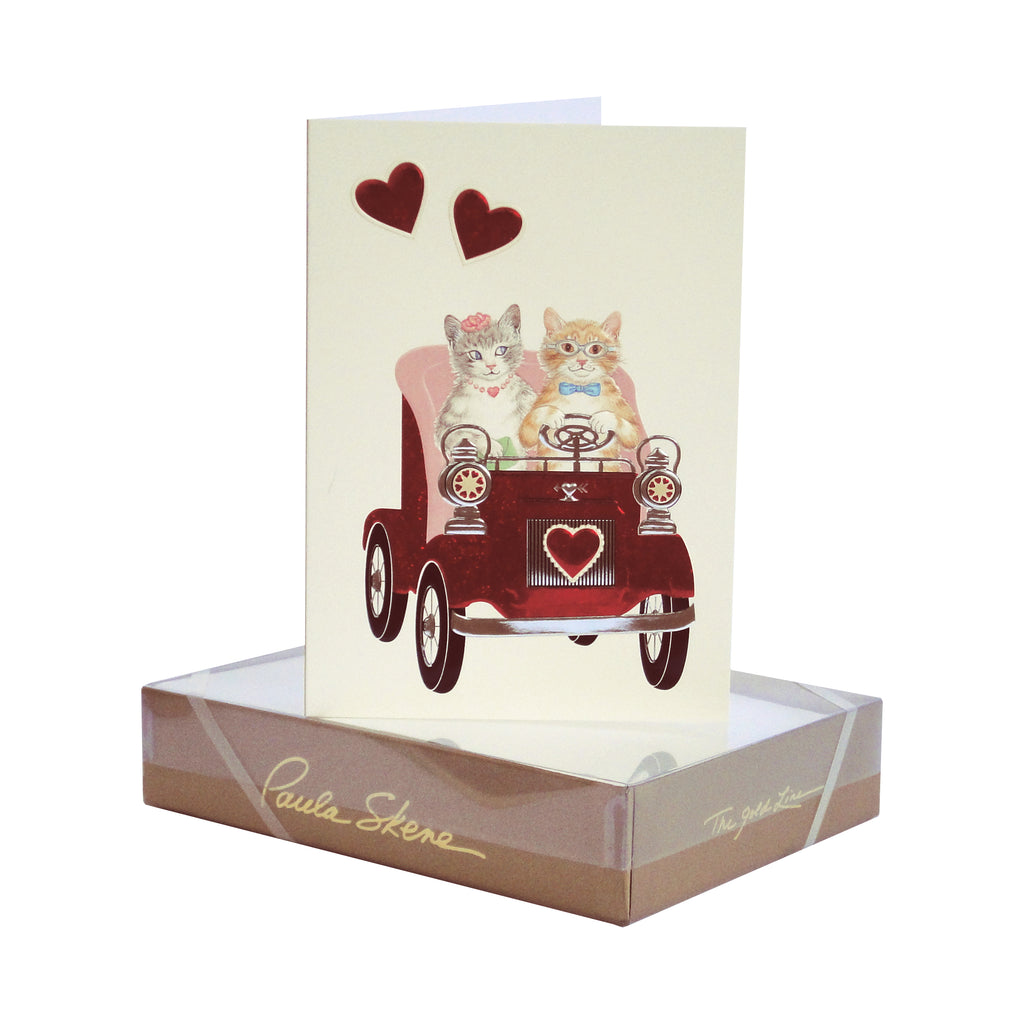 P. Skene Driving Ms. Kitty Valentine's Cards S/8