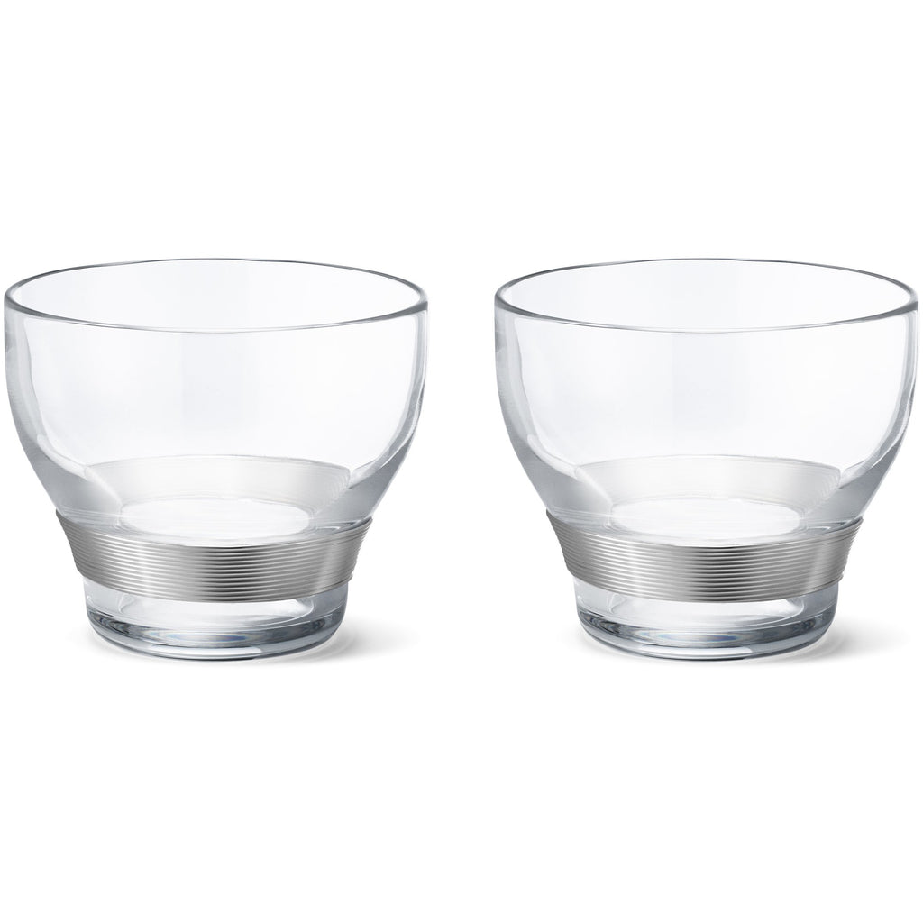 Koppel Crystal Glasses w/ Silver S/2
