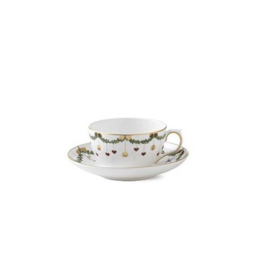 Star Fluted Teacup & Saucer