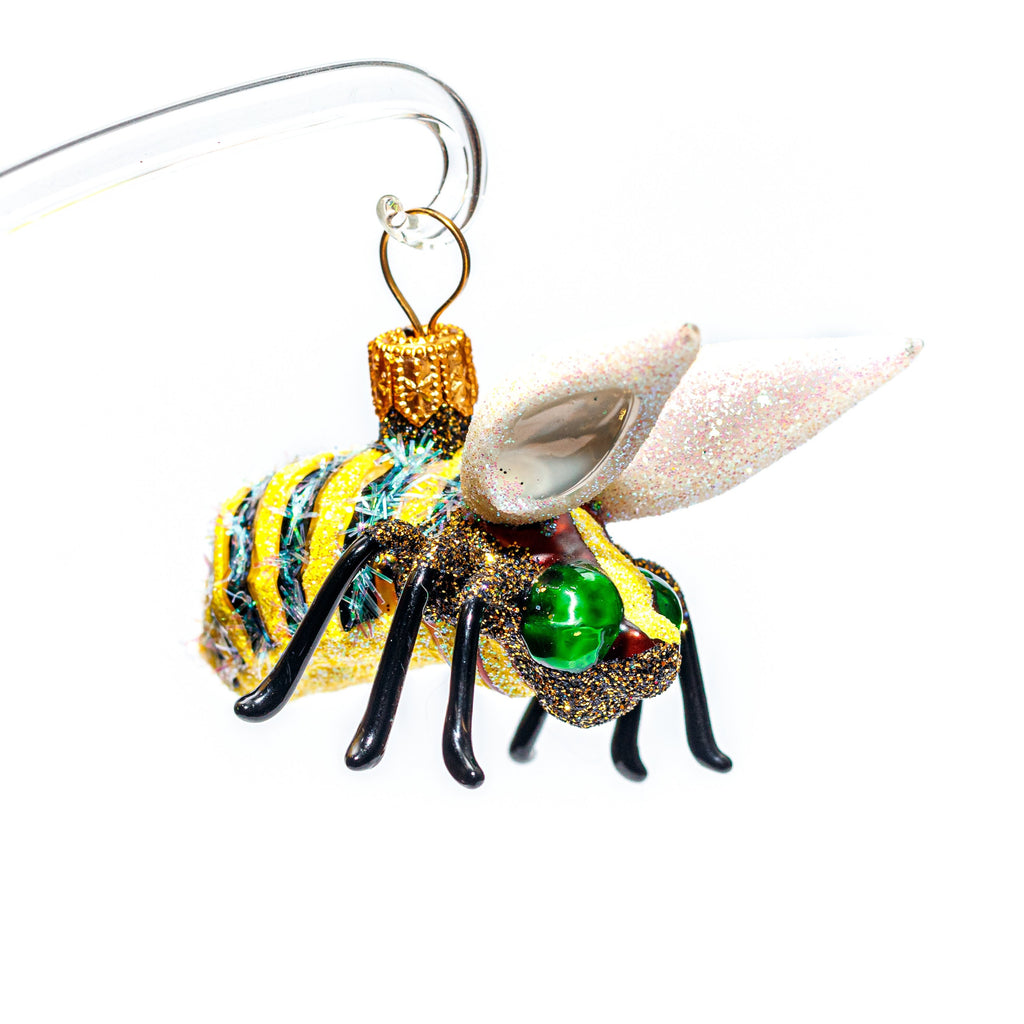 Green Yellow & Black Bee Ornament