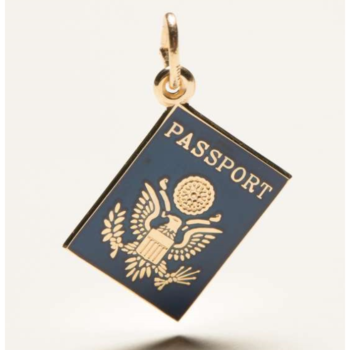 United States Passport Gold Charm