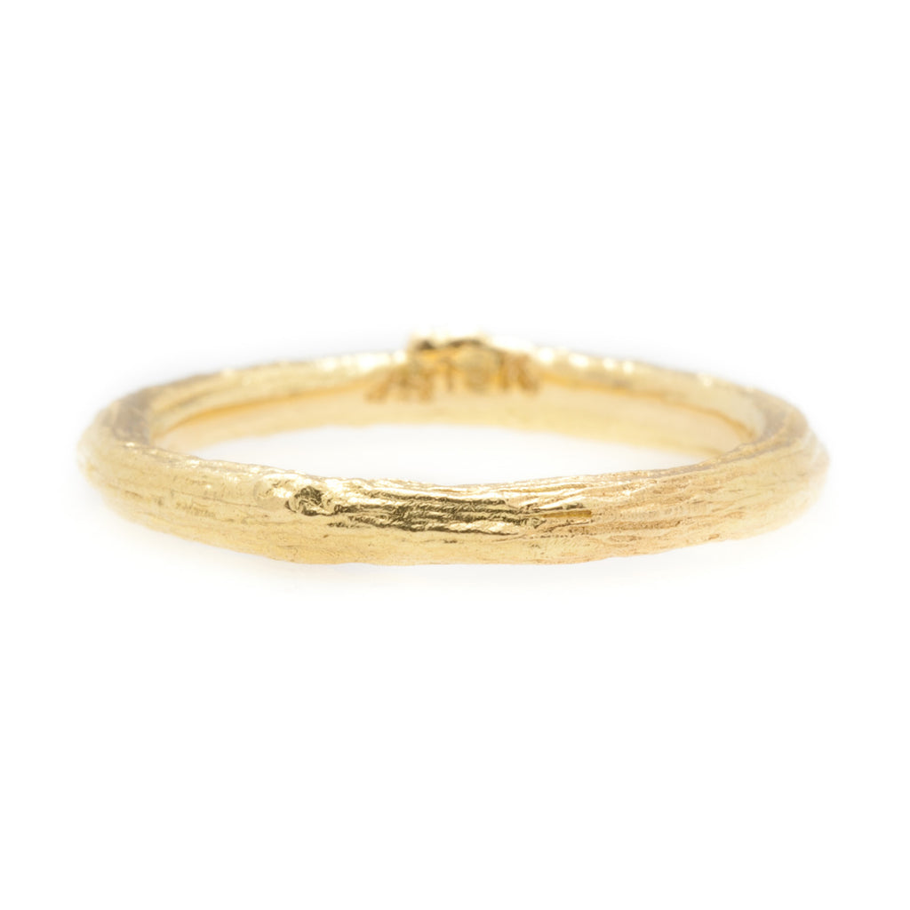 Gold Olive Branch Band Ring