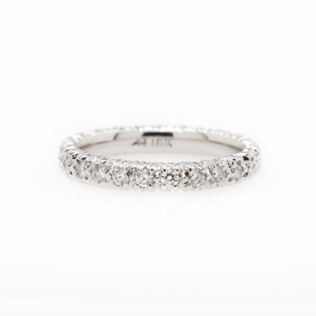 Aaron Henry Diamond Eternity Ring, White Gold