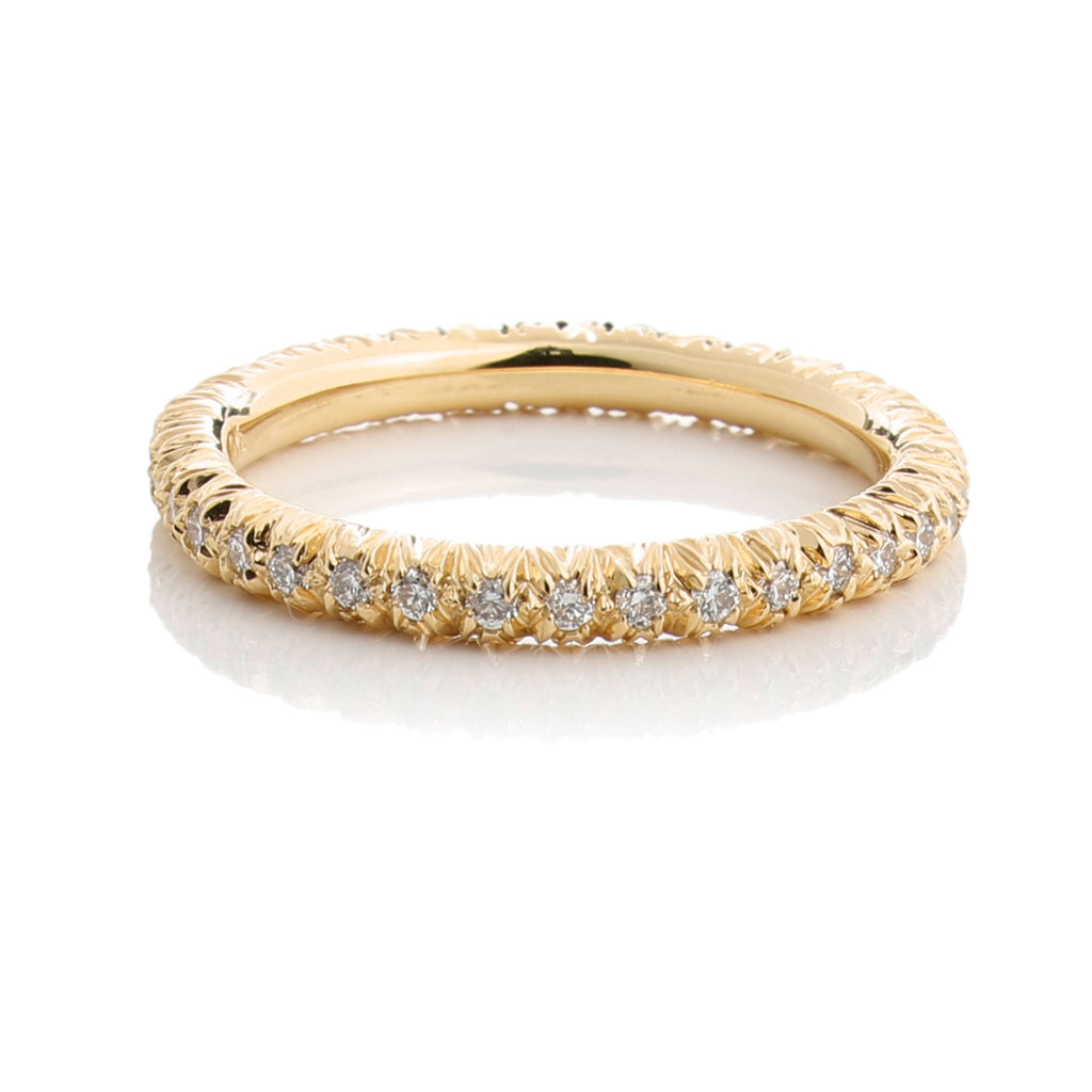 Aaron Henry Diamond Eternity Ring, Yellow Gold