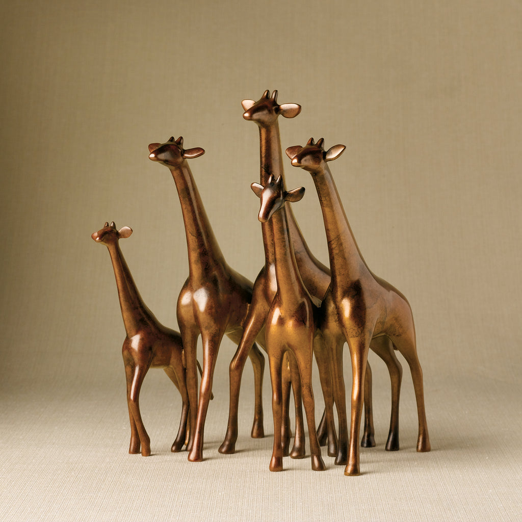 VANDERVEEN SET OF 5 ALERT GIRAFFES