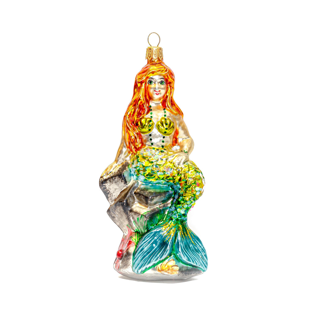 Mermaid on Rock Ornament