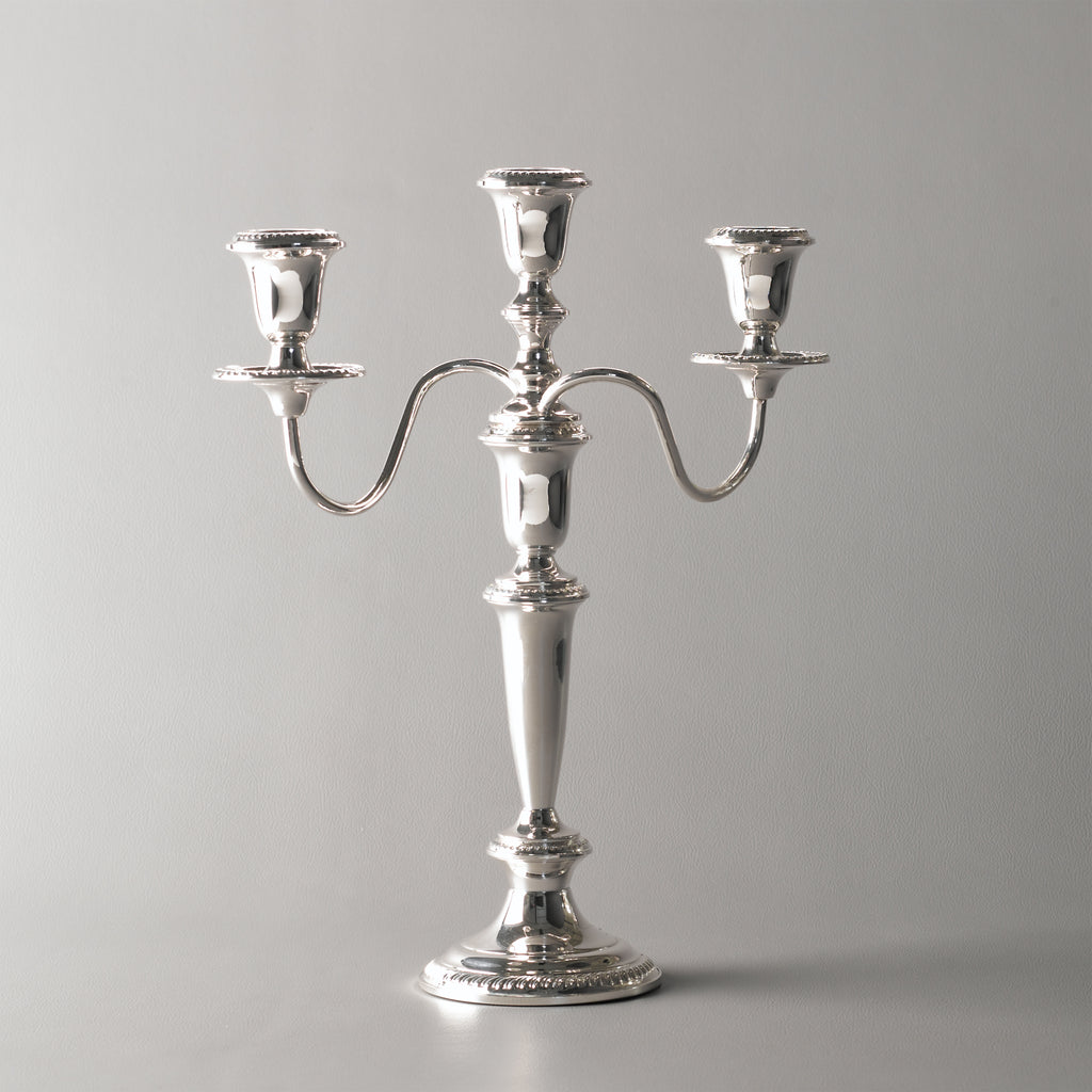 Empire Silver 3 Light Candlelabra