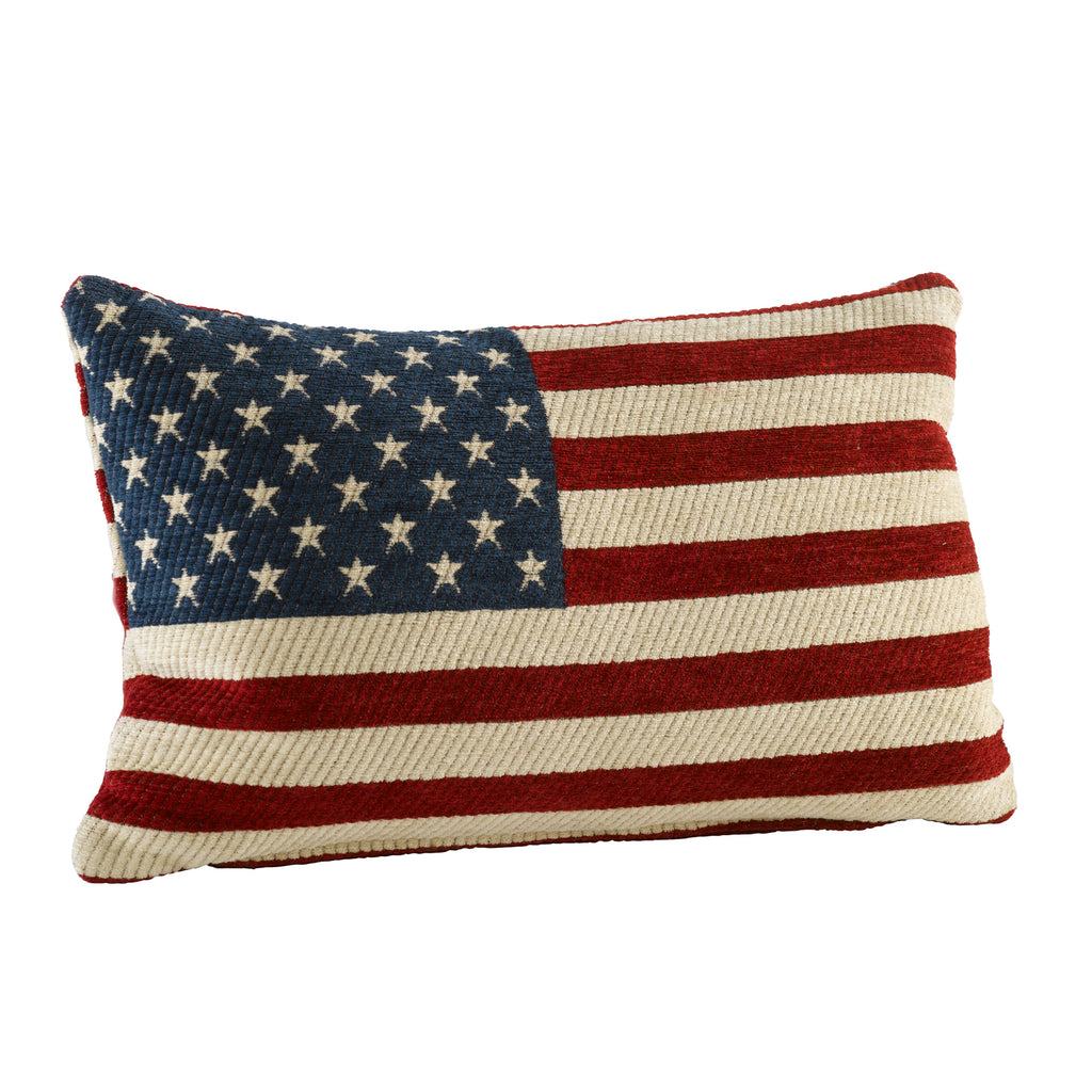 American Flag Chenille Pillow