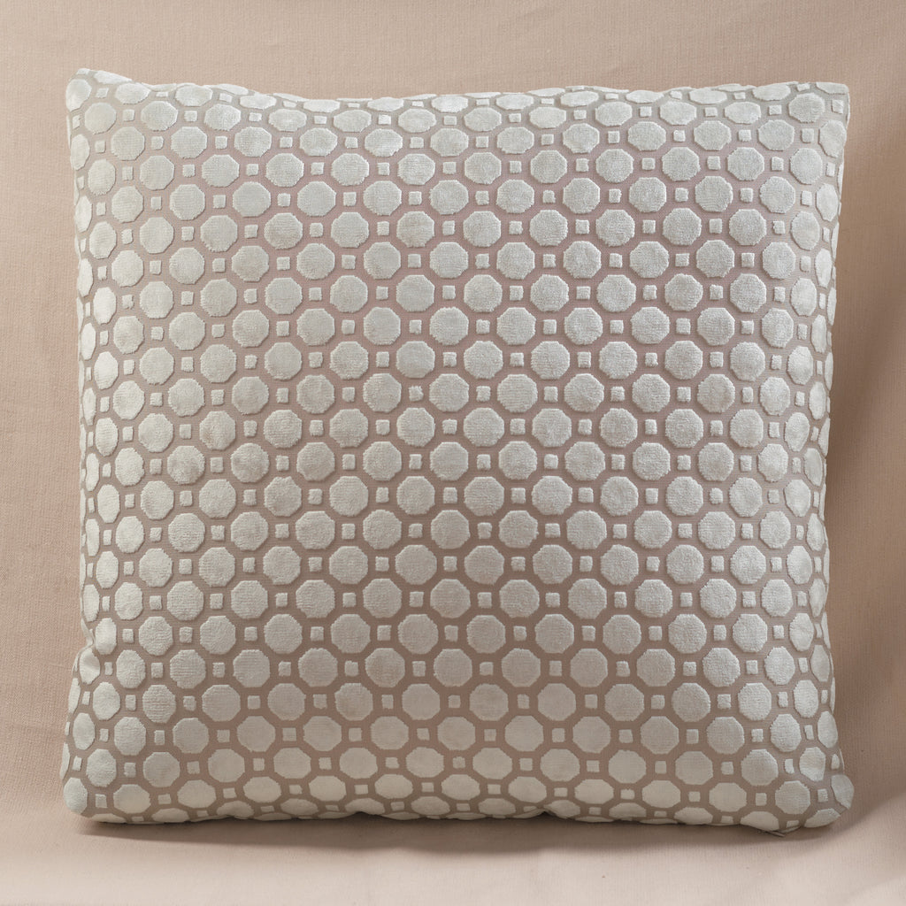 Velvet Geo Pillow Pearl Large
