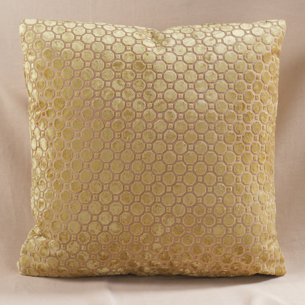 Velvet Geo Pillow Yellow Large