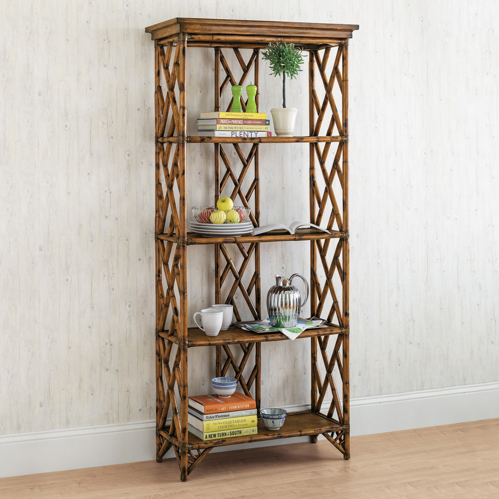 Antigua Tortoise Rattan Bookshelf Short