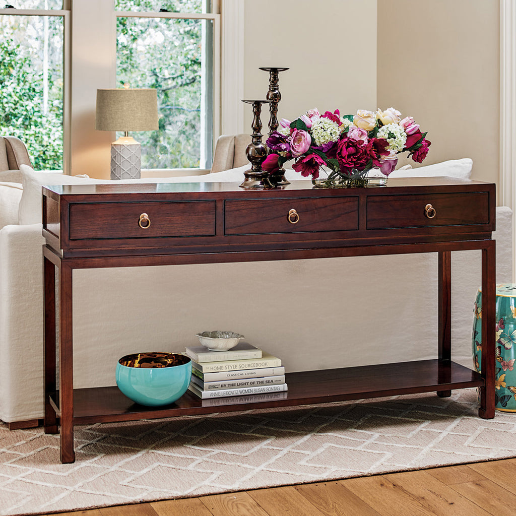 Livingston Console Table Brown