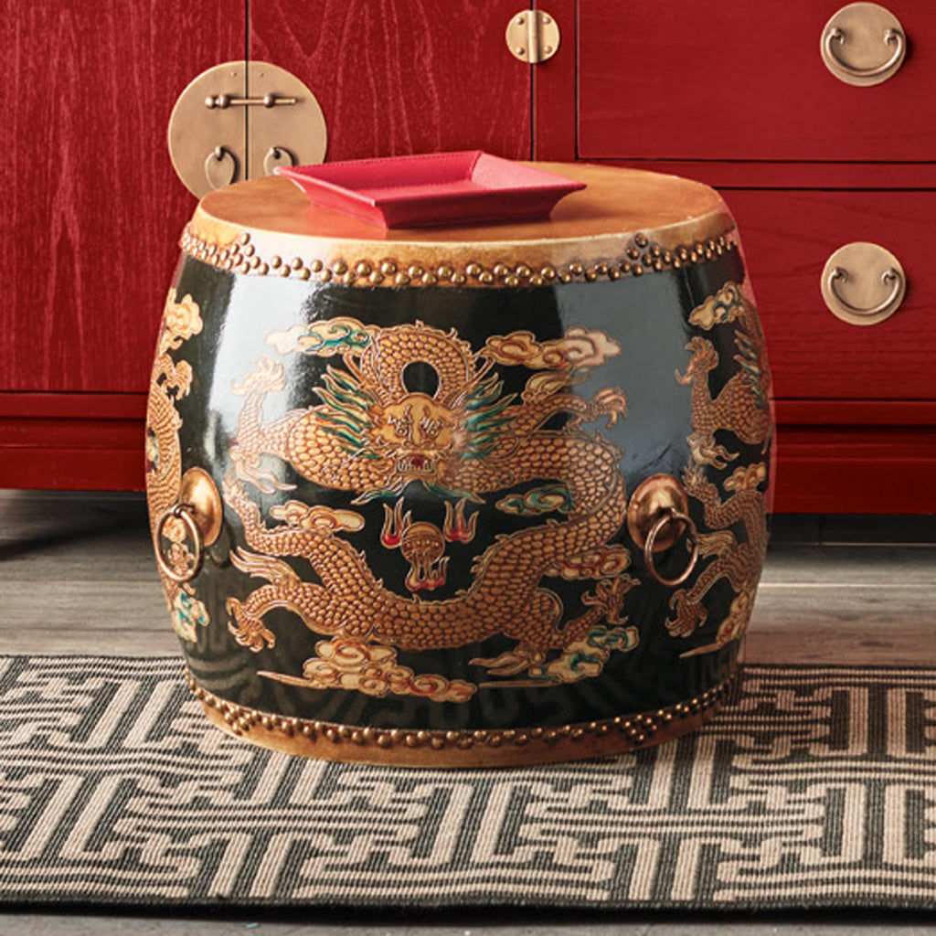 Ceremonial Drum Table Black
