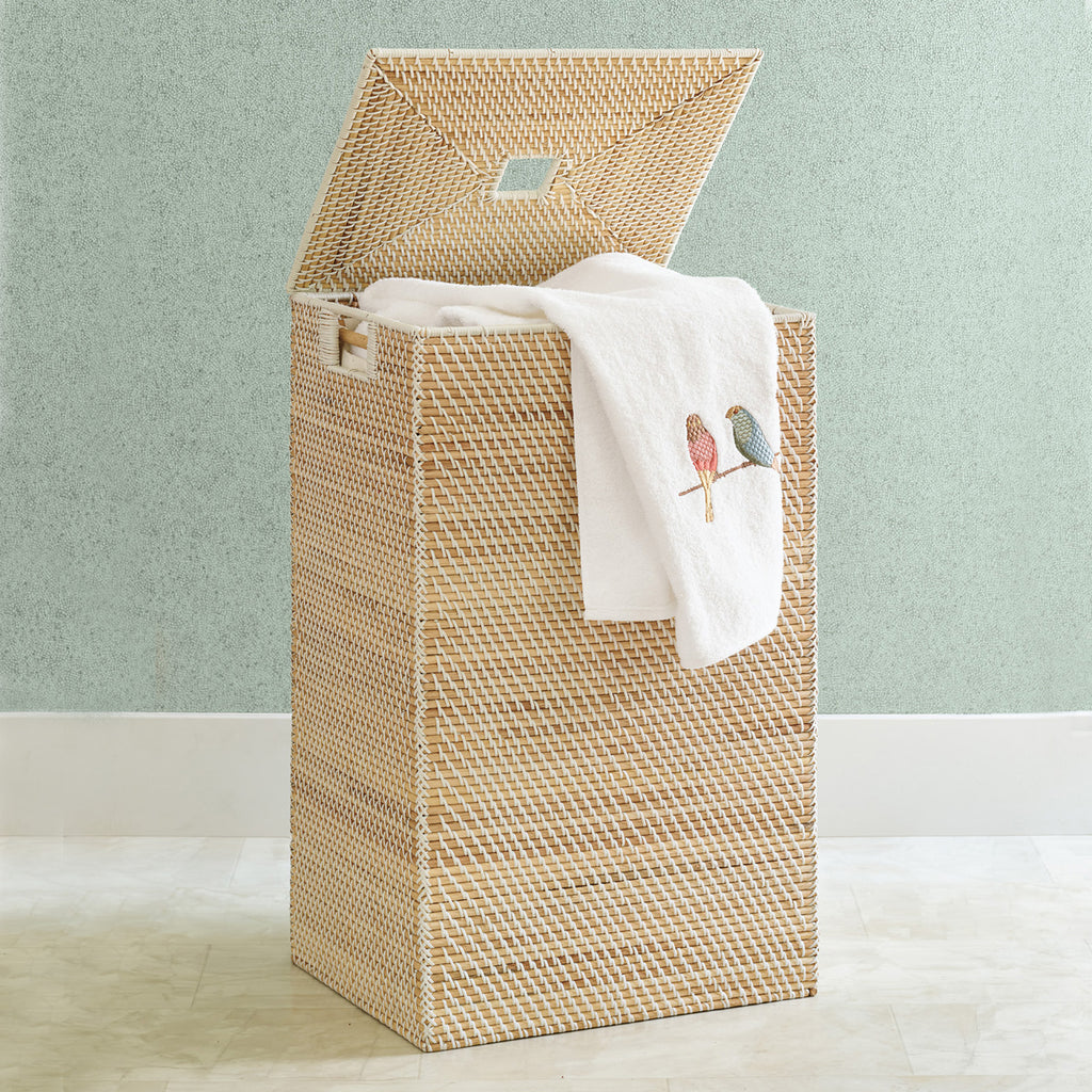 Rattan Basketweave Hamper