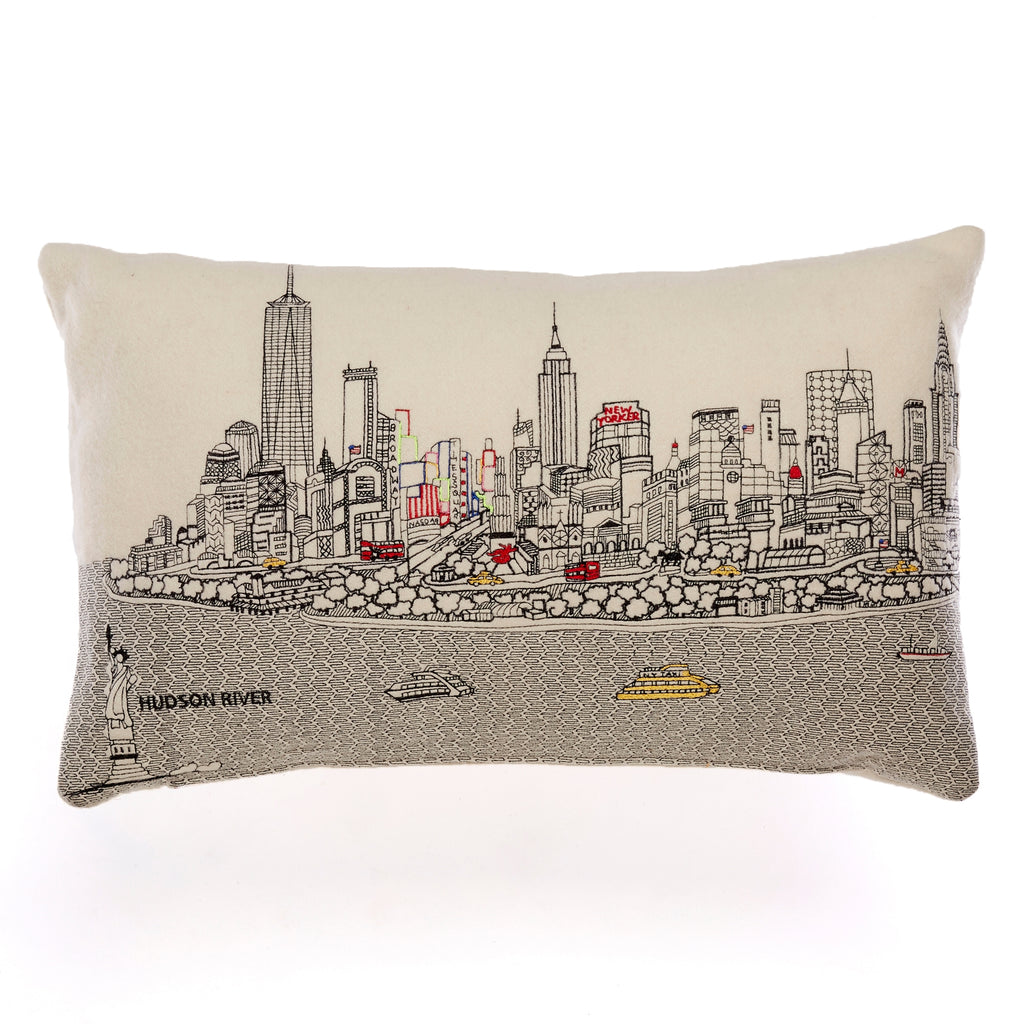 New York City Skyline Pillow