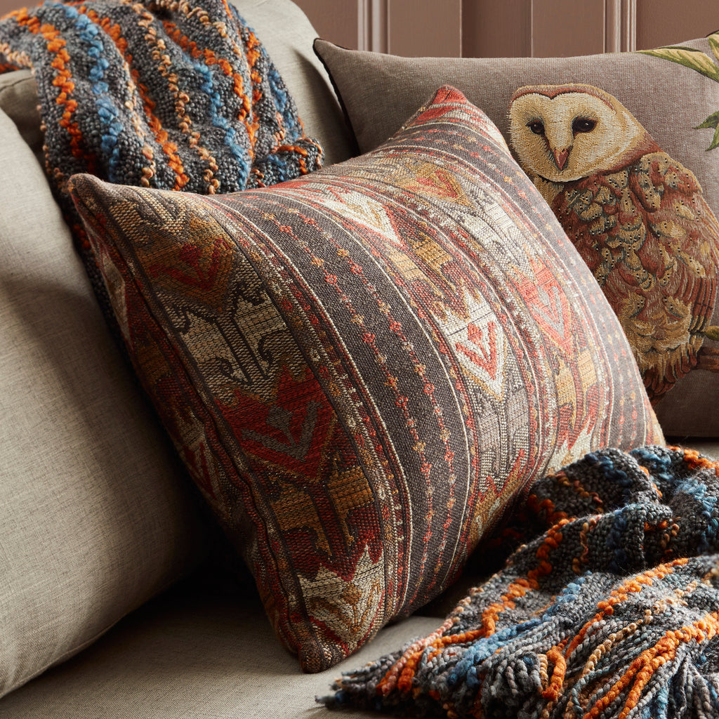 Oak Park Jacquard Woven Tapestry Lumbar Pillow