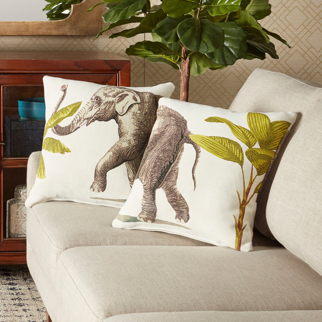 Elephant Tapestry Woven Pillows Set of 2