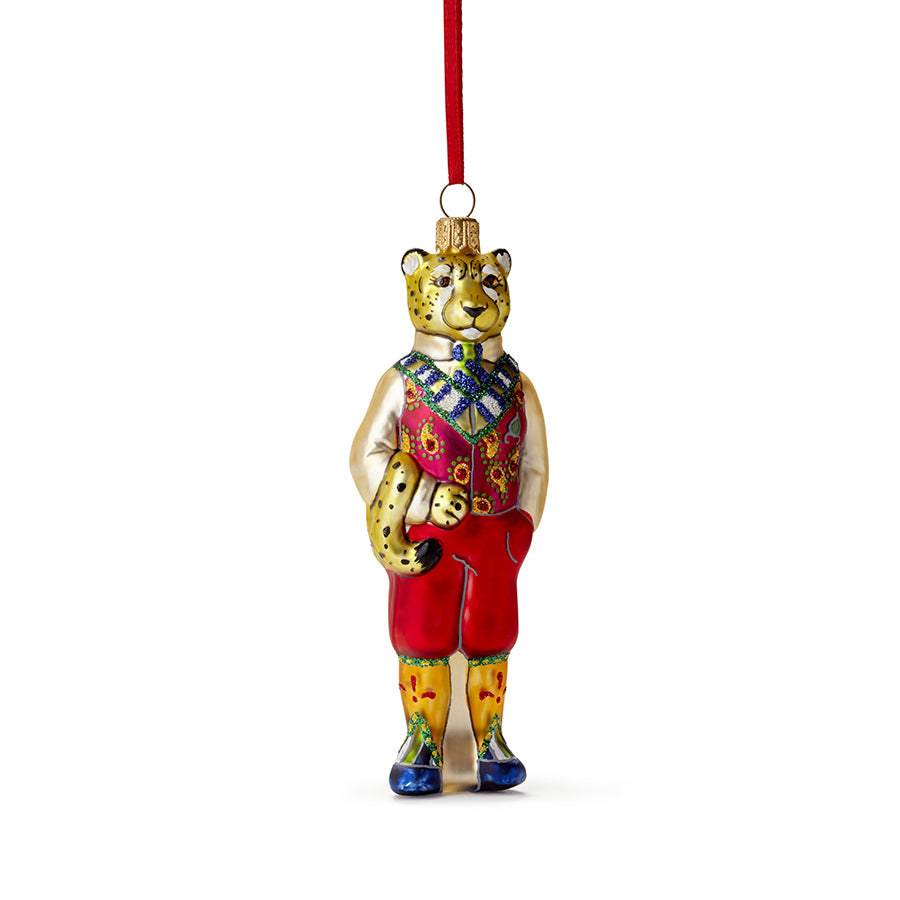Cheetah In Vest Ornament