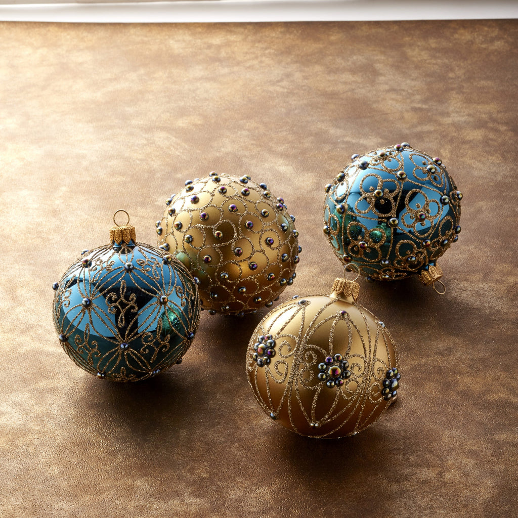 Holiday Color Ornaments, Set of 4