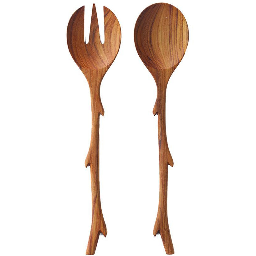 Teak Twig Serving Set
