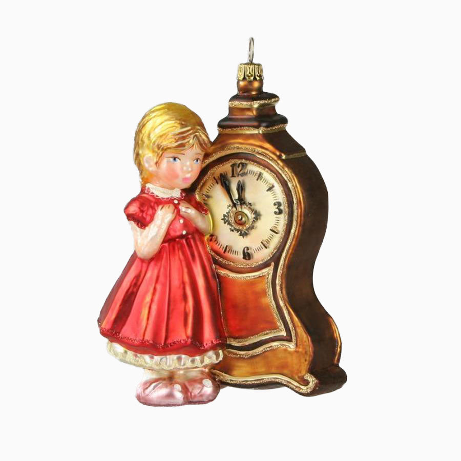 Girl with Clock Ornament